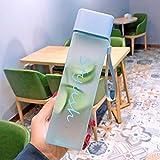 Botella de agua cuadrada de plástico mate deportes portátiles botellas de agua transparentes jugo bebida mujeres con cuerda taza de agua 450Ml