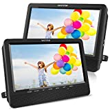 WONNIE 10.5'' Dual Screen DVD Player Portable Headrest CD Players for Kids with...