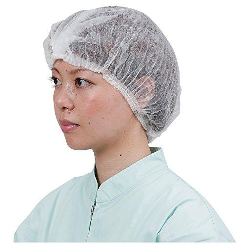 川西工業 クリーンベルズ 不織布使いきりヘアキャップ100枚入 ホワイト フリー 【使いきり】 #7045