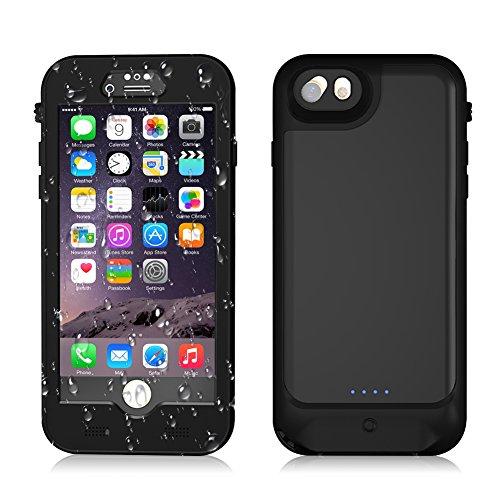 Jian Ya Na iPhone 07.08 / 6s / 6 waterdichte batterijdoos [3000mAh] beweegbare powerbank gebouwd 3,5 mm hoofdtelefoon Jack oplaadbare energieoplader Für Apple Iphone 4.7