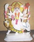 Durga Mata Marmor Statue Hindu Religiöse Stone Mini Durga Statue 25,4cm