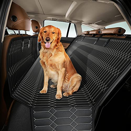 Magnelex Dog Car Seat Cover – Dog Hammock with Mesh Window for Cars, Trucks &...