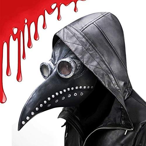 ALINILA Halloween Masque de Bec, Peste Médiévale Docteur Médecin Masque Long Nez Bec d'oiseau, Accessoires de Costume Steampunk pour Carnaval de Fête Adulte