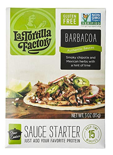 La Tortilla Factory Barbacoa Slow Cooker Sauce Starter, 3-Ounce, 8 Packages