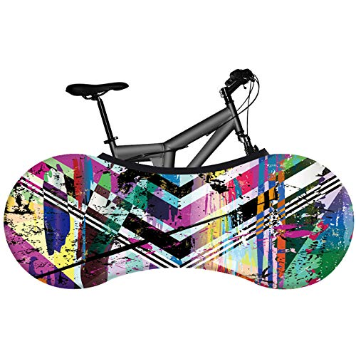 KHXJYC Bicycle Wheel Cover, Graffiti, Dust And Sun Protection Tire Protection Cover, Used For Mountain Bikes, Road Bikes, Folding Bikes,#7