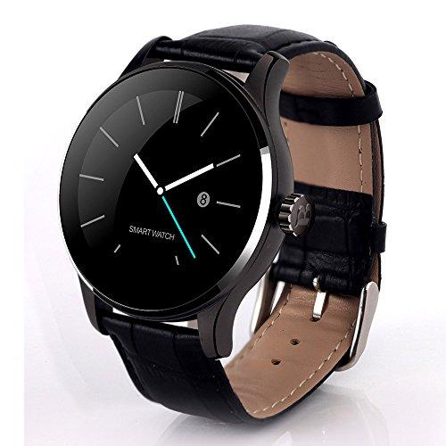 Heomeyb K88H Bluetooth Smart Watch MTK2502 Sprachsteuerung Smartwatch Die wasserdichte Smart Clock Mit Leistungsstarkem Batterie-Schrittzähler,C