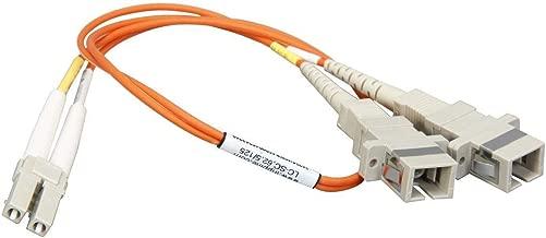 0.3 Meter Multimode Duplex Fiber Optic Cable (62.5/125) - LC to SC (M/F) - Orange