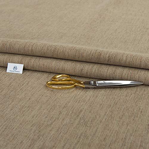 Haaris Imaan tela de chenilla para tapicería | ignífugo | Ex DFS | tela por metro | cortina, cojín, tapicería, muebles suaves, sofá arena