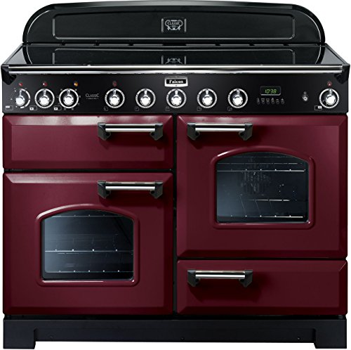 Falcon RANGECOOKER CLASSIC DELUXE 110 tiefrot/chrom - Induktion Grill/Multif.ofen/HL Ofen
