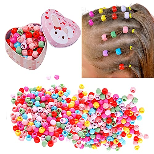 40Pcs Mix Color Mini Hair Ornament Hairclips For Women and Girls Hair Styling with Cute Pink Box