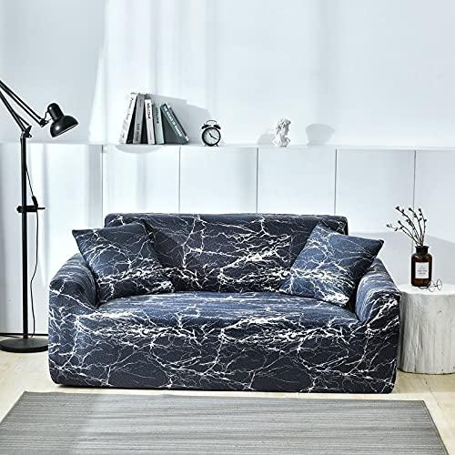 PPOS geométrico Funda de sofá Spandex para Sala de Estar Material elástico Sofá de Dos Asientos Sofá de Dos plazas Fundas para sillas Sofá A5 3 Asientos 190-230cm-1pc