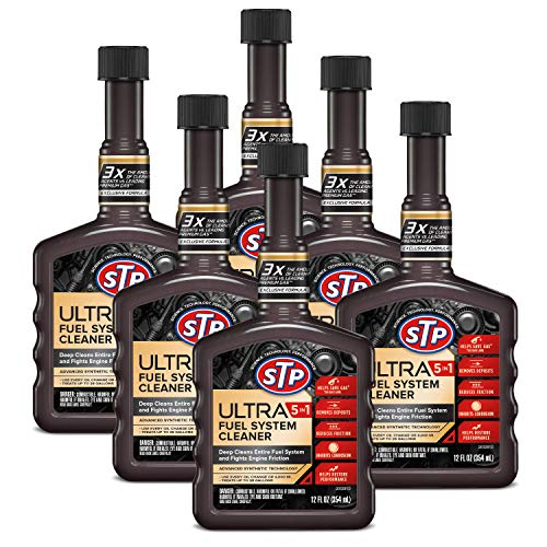 STP Fuel System Cleaner and Stabilizer, Ultra 5-in-1, Advanced Synthetic Technology, 12 Fl Oz, Pack of 6, 17437-6PK