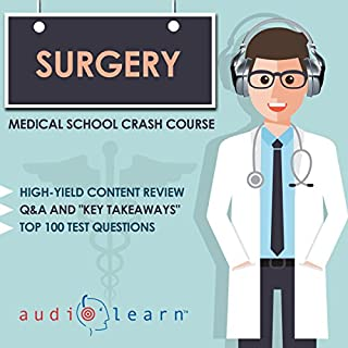 Surgery     Medical School Crash Course              By:                                                                                                                                 AudioLearn Medical Content Team                               Narrated by:                                                                                                                                 Bhama Roget                      Length: 9 hrs and 37 mins     Not rated yet     Overall 0.0