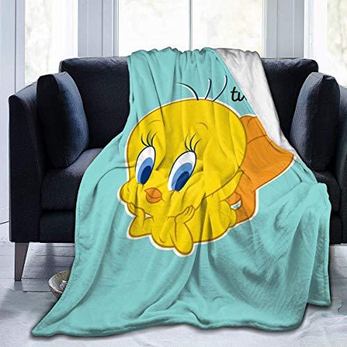 Tengyuntong Tweety Bird Superweiche Decke für den Winter Die ganze Saison über warmes Micro-Fleece Leichte Fleece-Decken für das Sofa 50 'x 40' / 60 'x 50' / 80 'x 60'