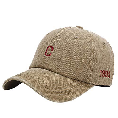 Herren Kappe Cap Frauen Männer Hut Buchstabe C Bunte Gestickte Baseballkappe Hut Unisex Sonnenhut Kappe Verstellbare Kappe Outdoor Peaked Hat-Khaki