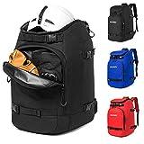 Ski Boot Bag, 50L Ski Bag Travel Backpack for Ski Helmet, Goggles, Gloves, Skis,...