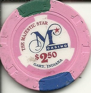 $2.50 majestic star casino chip gary indiana