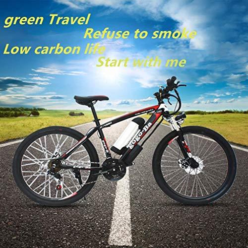 Bicicletta Elettrica da 26 Pollici per Bici 250w-48v E-Bike da Neve per Uomo Donna Mountain Pieghevole per E-Bike Pedale Assistenza Batteria al Litio Freni A Disco Idraulici PRO Rider