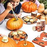 BESTonZON Halloween-Papiergeschirrset, Einwegbesteckset, Partyzubehör-Set 24, Inklusive Pappteller, 48 Servietten und 24 Tassen Geschirrset - 5