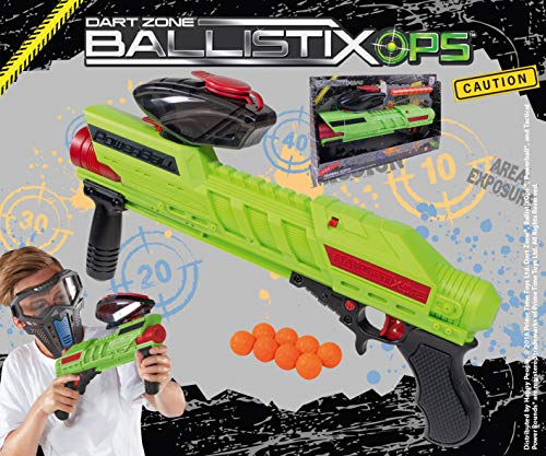 Happy People 16800 Dartzone Ballistixops Powerball Blaster, Orange