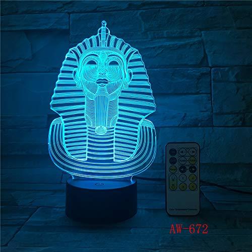 Farbwechsel ägyptische Sphinx Pharao Nachtlicht Ägypten Cleopatra Atmosphäre Licht 3D Stimmung Touch Licht Hauptdekoration
