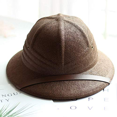 APWY Sommer Strohhut Sonnenhut Papa Abenteurer Hut Dschungelhut Sonnenhut praktischer brauner Hut