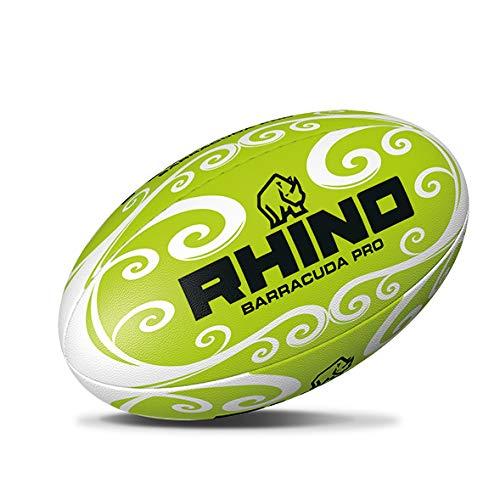 Rhino Barracuda Beach - Pallone da rugby, unisex, colore: verde, 4,5