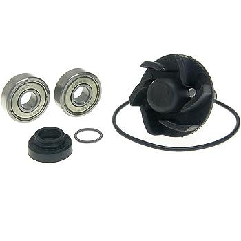 Wasserpumpe komplett in schwarz f/ür Aerox 50 Nitro SR50 Jog Minarelli LC