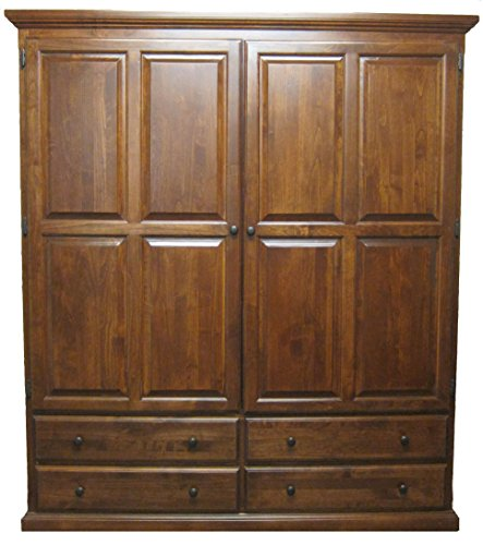 Find Bargain Forest Designs Traditional Wardrobe: 48W x 72H x 21D 48w Ebony Oak