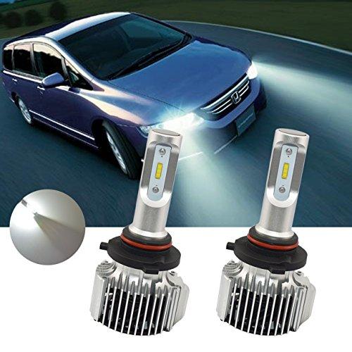 TUINCYN Ampoules LED 9005 super lumineuses pour phares de voiture, 2 pièces, 8000 lumens, blanc HB3, kit de conversion de phares automobiles IP67 étanche