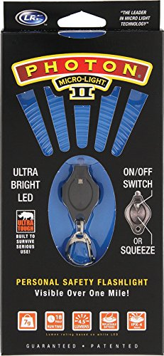 LRI PBK Photon II LED Keychain Micro-Light, Blue Beam