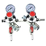 HFS (R) Commercial CO2 Regulator - Beer Brewing Kegerator Dual Gauge Shutoff Valve (2 Product)