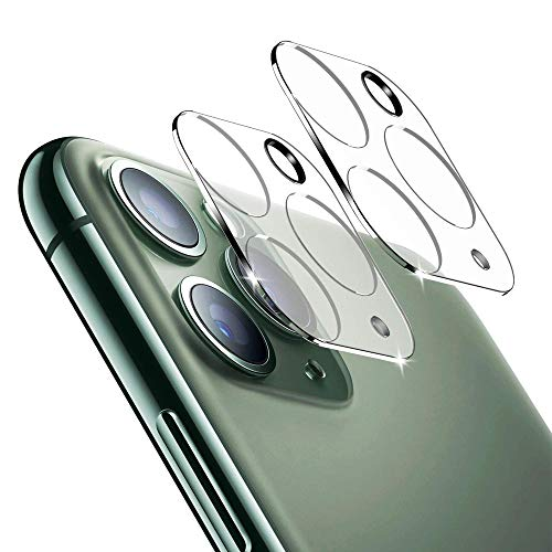 of ulak glass screen protectors ULAK 2PCS Camera Lens Screen Protector for iPhone 11 Pro/iPhone 11 Pro Max, Anti-Scratch Fingerprint 9H Tempered Glass Camera Lens Protector, HD Clear