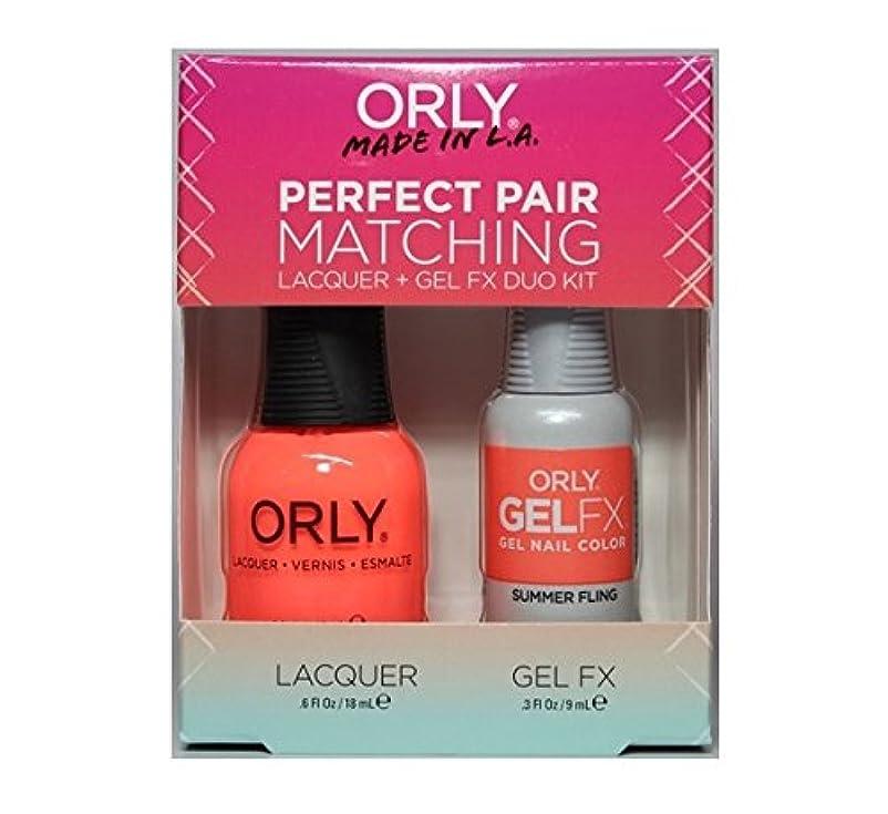 ブロック空いているサスティーンOrly Lacquer + Gel FX - Perfect Pair Matching DUO Kit - Summer Fling