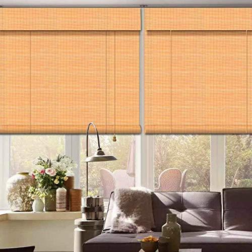 ybaymy - Cortinas de bambú impermeables antimoho, estilo retro, decorativas para interior y exterior