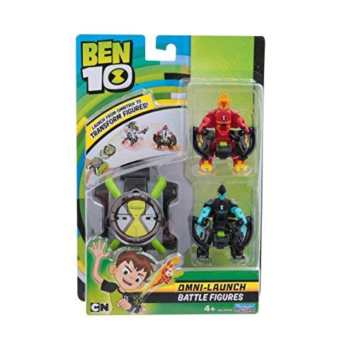 Ben 10 Omni Launcher & Battle Figures - Heatblast & XLR8