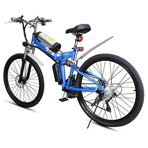 AINY Bicicleta Eléctrica Plegable De 26 Pulgadas De Nieve Fat Tire Bike...