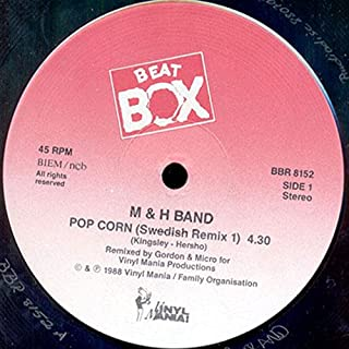 M & H Band Pop Corn (Swedish Remix) vinyl record