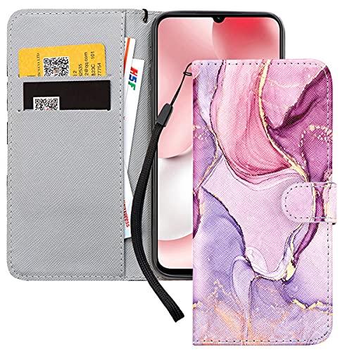 Yoedge Handy Lederhülle für Xiaomi Redmi Note 8 Pro hülle,Rosa PU Leder Klapphülle Hülle Brieftasche Handytasche Hülle Cover Kompatibel für Redmi Note 8 Pro 6,53