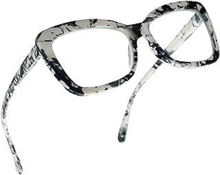 8bc90cbb212 SunglassUP Chunky Square Classy Cat Eye Prescription Reading Glasses for  Women Power +1.0 Thru +