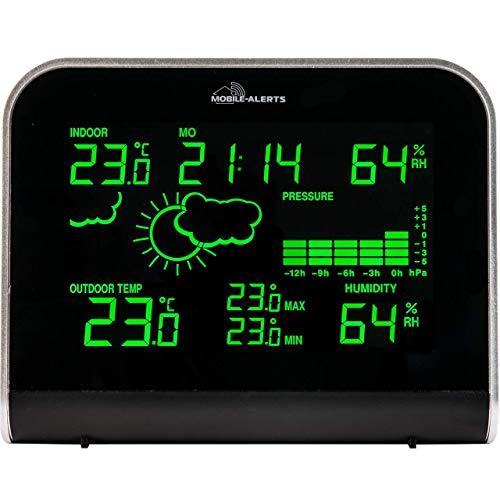 MA 10920 – weerstation met aansluiting op het mobiele Altts huisbewakingssysteem, overdracht van de waarden ook de smartphone, led-display in verschillende lichtmodi