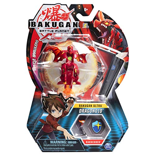 BAKUGAN Ultra, 3-inch Tall Collectible Transforming Creature, for Ages 6 and Up (Dragonoid)