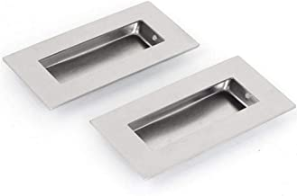 304 Stainless Steel Recessed Flush Pull Finger Insert Door Chest Handle for Sliding Door, Cupboard, Drawer, Cabinet, Etc, is an Ideal Replacement.52mmx102mm 2PCS.
