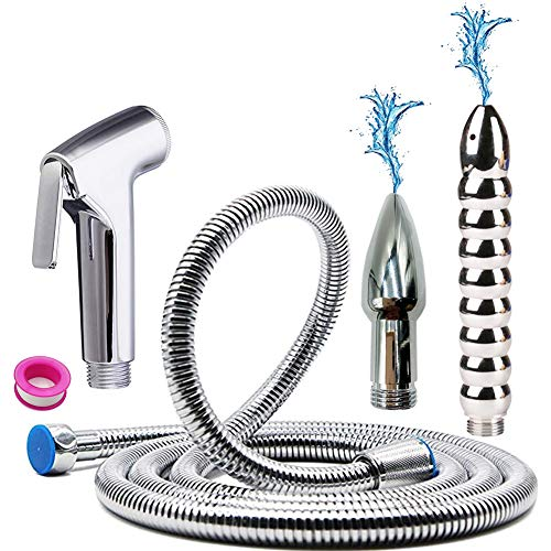 GNEGKLEAN Bathroom Handheld 2M Shower Hose Enema Douche Bidet Cleaning System Kit