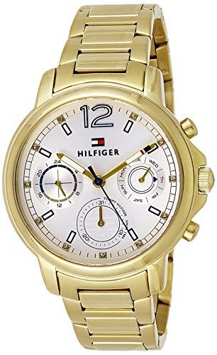 Tommy Hilfiger Damen Analog Quarz Uhr mit Edelstahl Armband 1781742