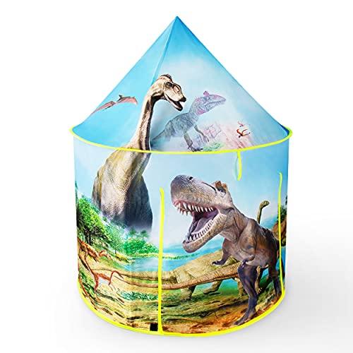 besrey Dinosaurio Tienda Campaña Infantil Niños, Telas para Cuartos de Juegos, Dinosaurio Juguetes para Castillos de Interiores y Exteriores, Regalos para Niños