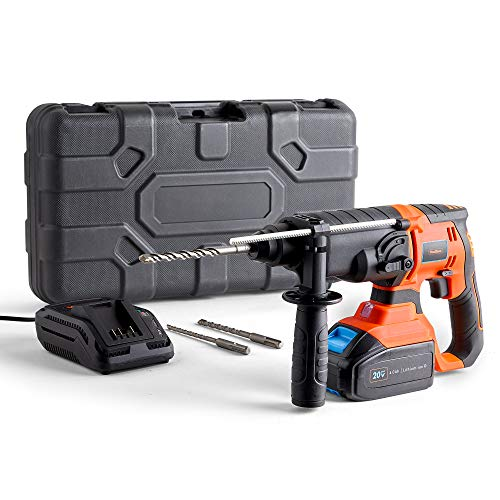 Vonhaus Cordless Rotary Hammer Drill 20V MAX - SDS Plus Drill with 4Ah Battery for Masonry & Demolition - 20V Max Lithium-ion D Range - Compatible with SDS Plus Drill bits & SDS Drill Bits