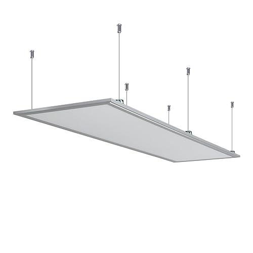 Anten® Dalle LED 55W Panneau Luminaire LED 30×120CM Plafonnier Dalle Lumineuse Blanc Haute Luminosité Basse Consommation d'Énergie Blanc froid 6000K-6500K