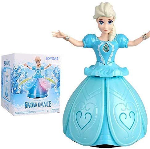 JOYSAE Battery Operated Princess Dolls Toys for Girls; Snow Dance,Dancing Girl Doll; Flashing, Singing, Dancing and Rotating; Perfect Toddler Girl Toys!! (Age 3+)