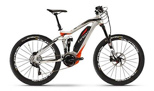 Haibike Sduro Allmtn Pro E-Bike da 400Wh, 250 W, 36V, Bicicletta Elettrica con Ruote da 27,5' e 20 Velocità, Uomo, Black/Red/Silver, 48 (EU)